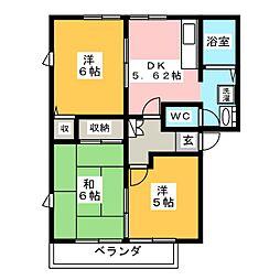 プロムナード21B[2階]の間取り