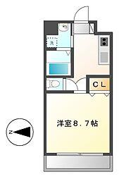 丹下キアーロ[3階]の間取り