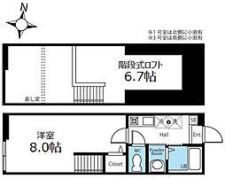 ハーミットクラブハウス桜山B棟(仮) 1階1Kの間取り