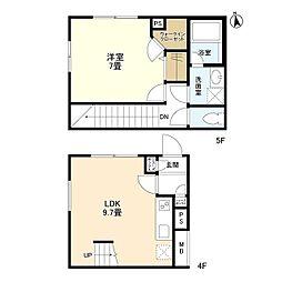 東京メトロ有楽町線 江戸川橋駅 徒歩3分の賃貸マンション 4階1LDKの間取り