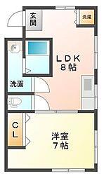 メゾン甲子園[3階]の間取り