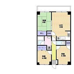 アイマンション[105号室]の間取り