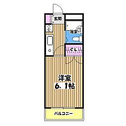 東京都立川市栄町4丁目の賃貸マンションの間取り