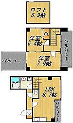 ヴェルデ薬院[4階]の間取り