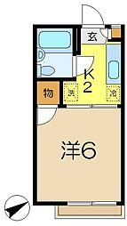柿ノ木ヴィレッヂ3番館[1階]の間取り