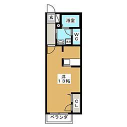 シャーメゾン悠[2階]の間取り