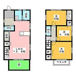 [一戸建] 静岡県湖西市新所原3丁目 の賃貸【/】の間取り