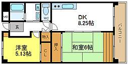ノーブルハウス関井[4階]の間取り