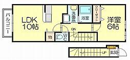 マーヴェラス空2[2階]の間取り