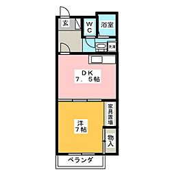 メゾン・アンジュ[3階]の間取り