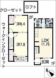[タウンハウス] 愛知県知多市八幡字新道 の賃貸【/】の間取り