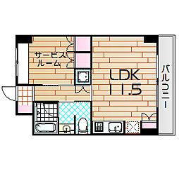 シティエール東梅田I[8階]の間取り