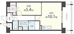 福岡県久留米市城南町の賃貸マンションの間取り