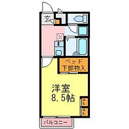兵庫県三木市大村字谷後の賃貸アパートの間取り