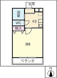 T's Chambre[4階]の間取り