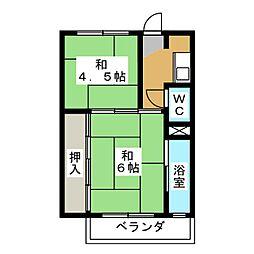 ビレッジハウス穂積 1号棟[3階]の間取り