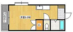 プロスパーヤマシタII[4階]の間取り