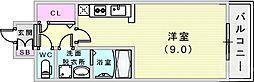 JR東海道・山陽本線 元町駅 徒歩10分の賃貸マンション 10階1Kの間取り