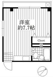 鳥海ハイツ[3階]の間取り