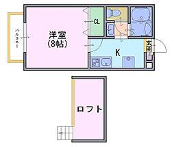 多蔵court1[2階]の間取り