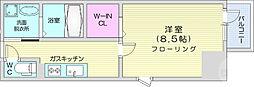 レガーロ仙台駅東 6階1Kの間取り
