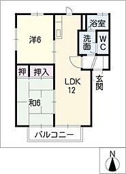 ファミーユ A棟[2階]の間取り