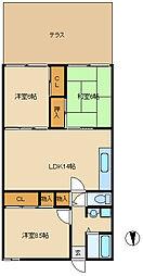 兵庫県尼崎市大島3丁目の賃貸マンションの間取り