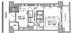 都営大江戸線 汐留駅 徒歩4分の賃貸マンション 15階1LDKの間取り