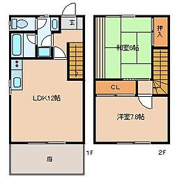 [タウンハウス] 福岡県久留米市大石町 の賃貸【/】の間取り