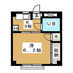 高野コーポ[3階]の間取り