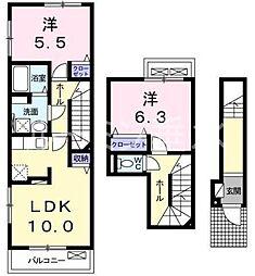 サンヒルズラフォーレ1[2階]の間取り