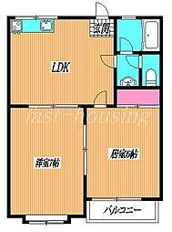 東京都三鷹市北野3丁目の賃貸マンションの間取り