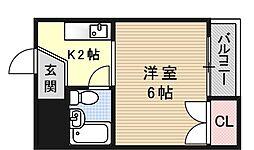 プレアール勧修寺[302号室号室]の間取り