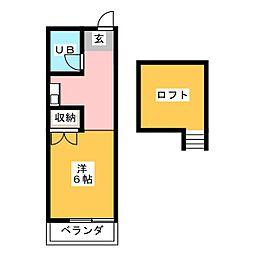 ルネパレス狐ヶ崎第2[1階]の間取り