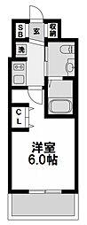 エステムコート新大阪リンクス 10階1Kの間取り