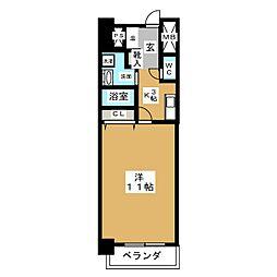 CASSIA錦本町通[12階]の間取り