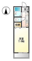 ヴィラ・ファミーユ 11c[2階]の間取り