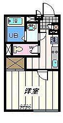 東京都葛飾区高砂の賃貸マンションの間取り