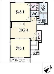 ハマナスT,Y[1階]の間取り