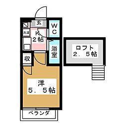 アップルハウス八乙女[2階]の間取り