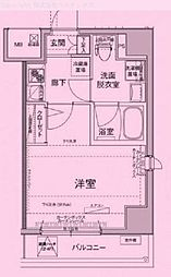 東京都荒川区東日暮里の賃貸マンションの間取り