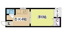 アクティ香露園[4D号室]の間取り