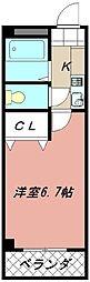 スカイハイツ折尾[2階]の間取り