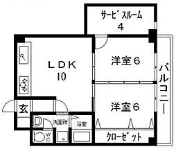 高井田青山ビル[501号室号室]の間取り