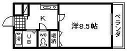 フルール[205号室]の間取り