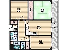 アンソレイユK[2階]の間取り