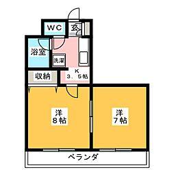 弓和ガ−デンハウスN[2階]の間取り
