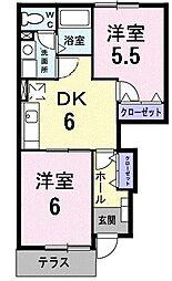 プアラニ[0102号室]の間取り