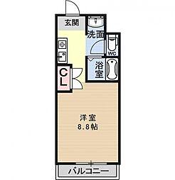 リジェール柳田[308号室号室]の間取り