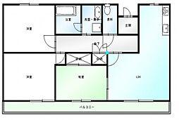 サンハイツベニサン[1階]の間取り